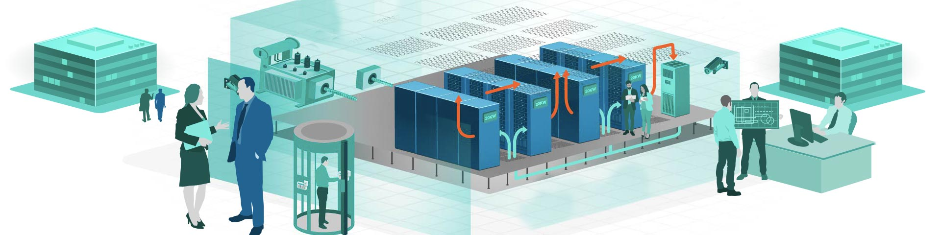 Data centre power and cooling design